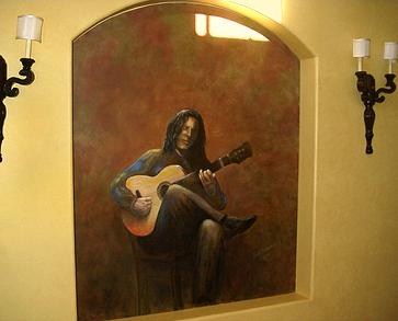 Flamenco Guitar Player Painting